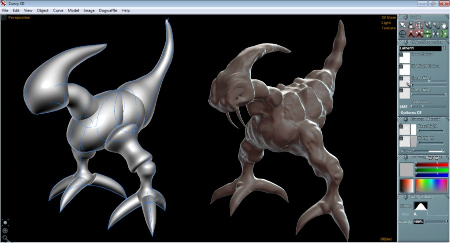 Aartform Curvy 3d Modelling Software Features Screenshots